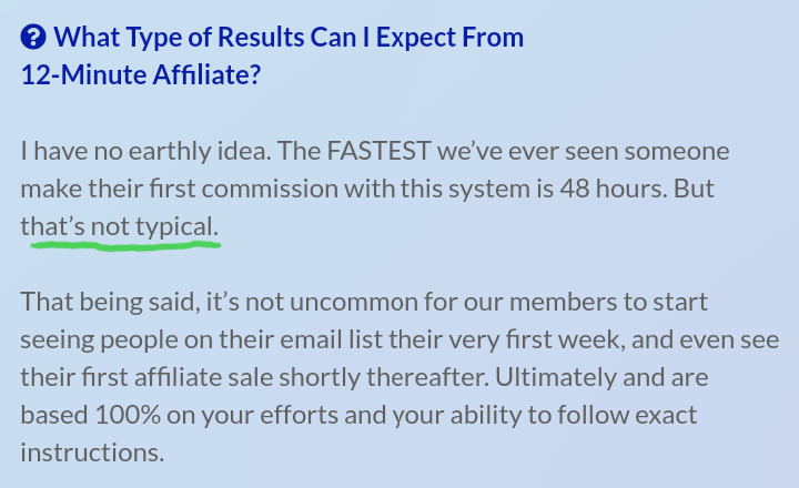 Expected Results FAQ