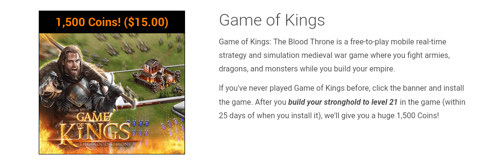 Reach Level 21 On Game Of Kings