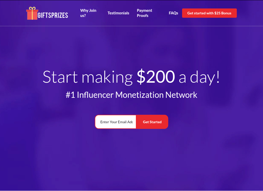 Start Making $200 A Day With GiftsPrizes