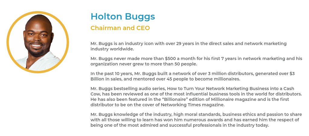 Holton Buggs Chairman and SEO