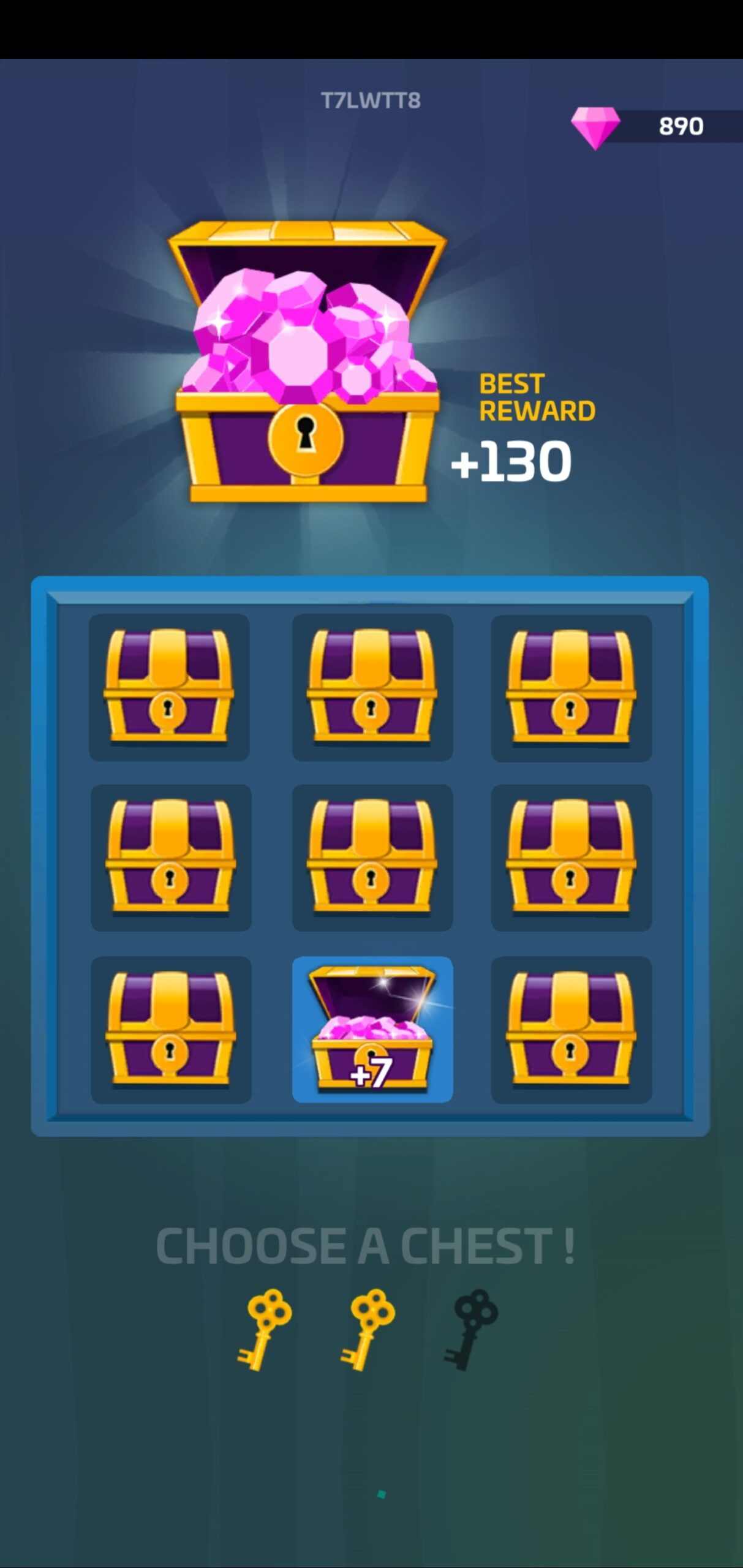 Earn gems out of treasure chests