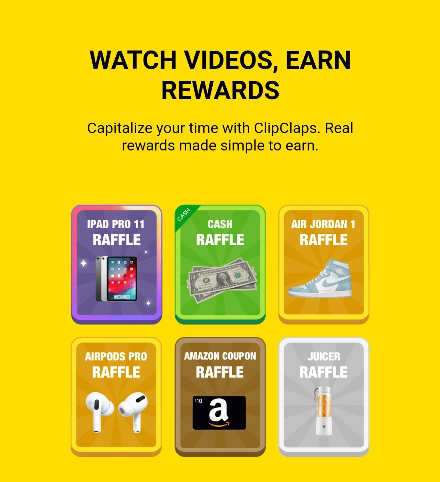 Watch videos and earn rewards