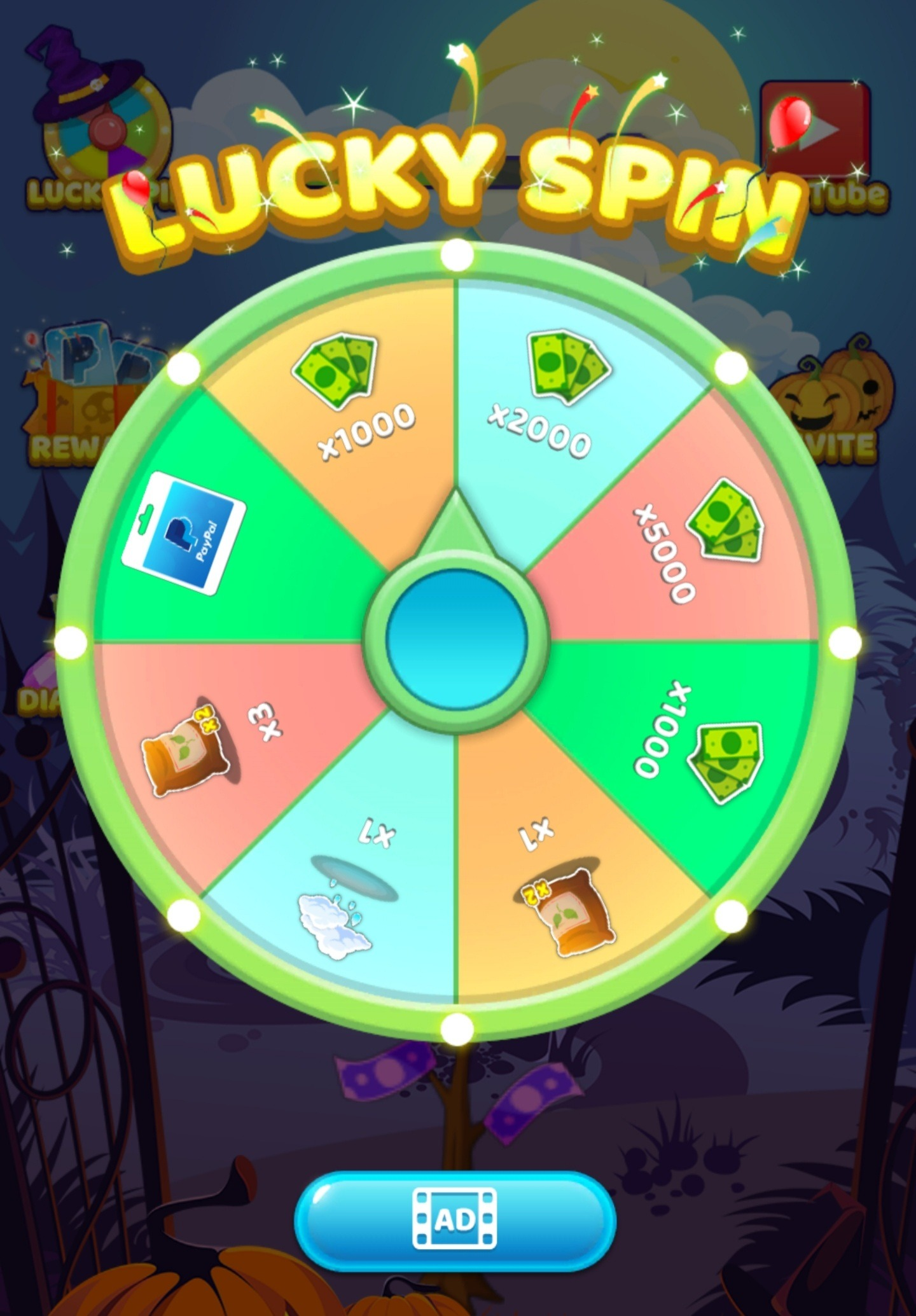 Tree For Money Lucky Spin