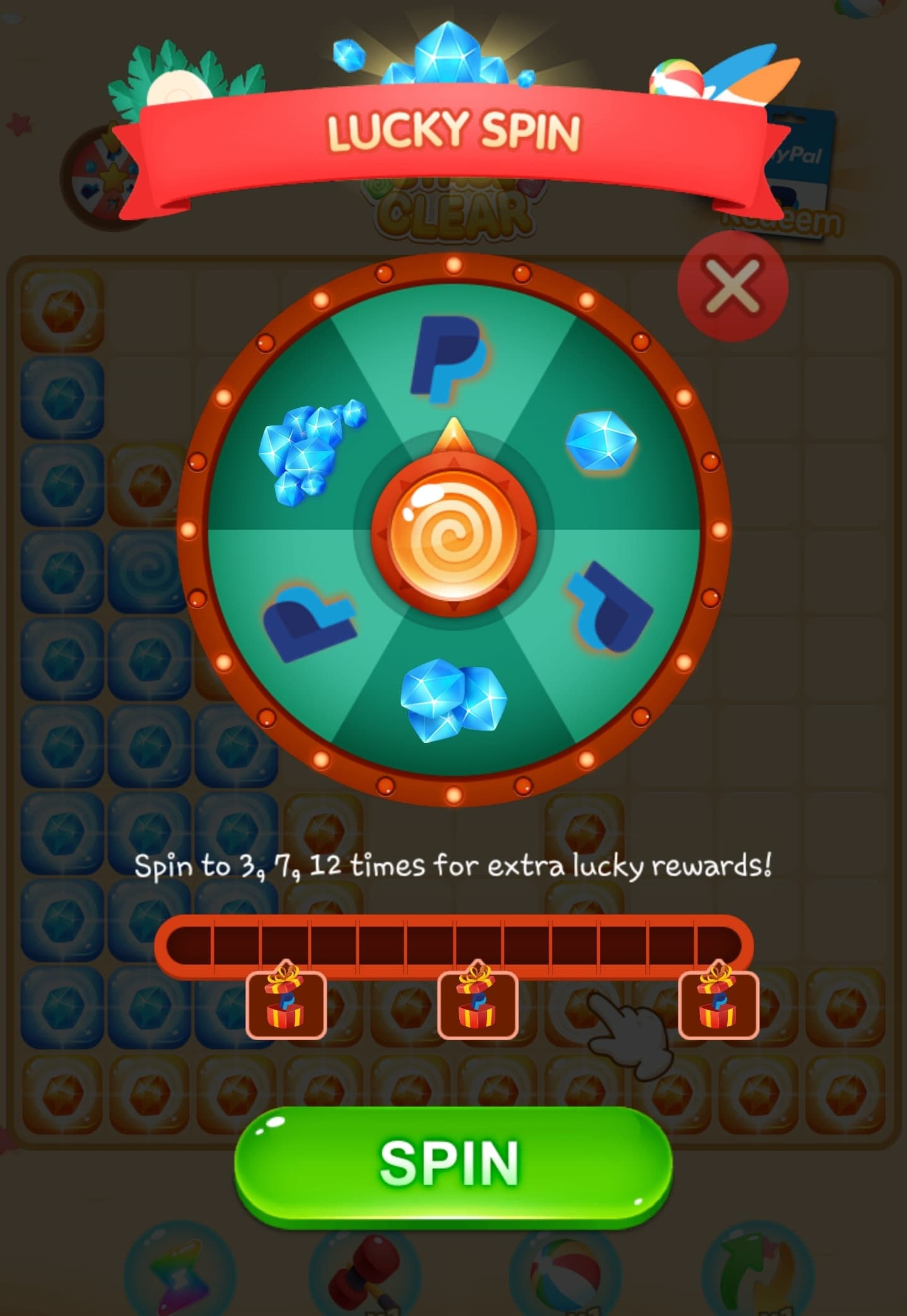 Spinning For Cash And Gems