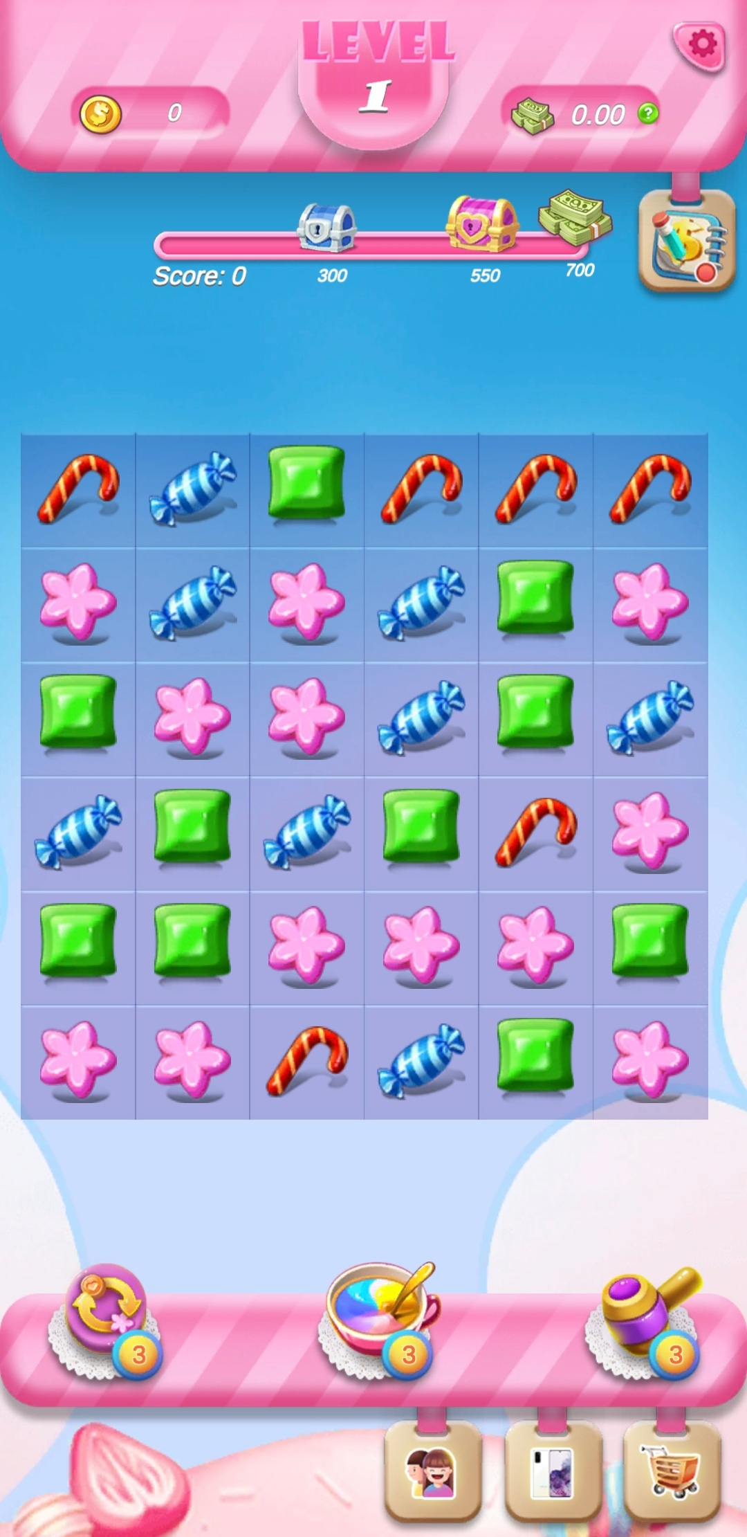 Gameplay of Candy Crack