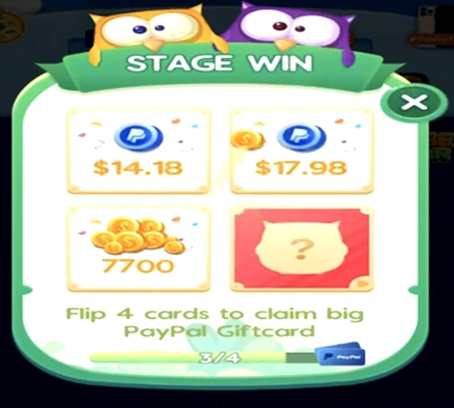 four rewards for Stage win