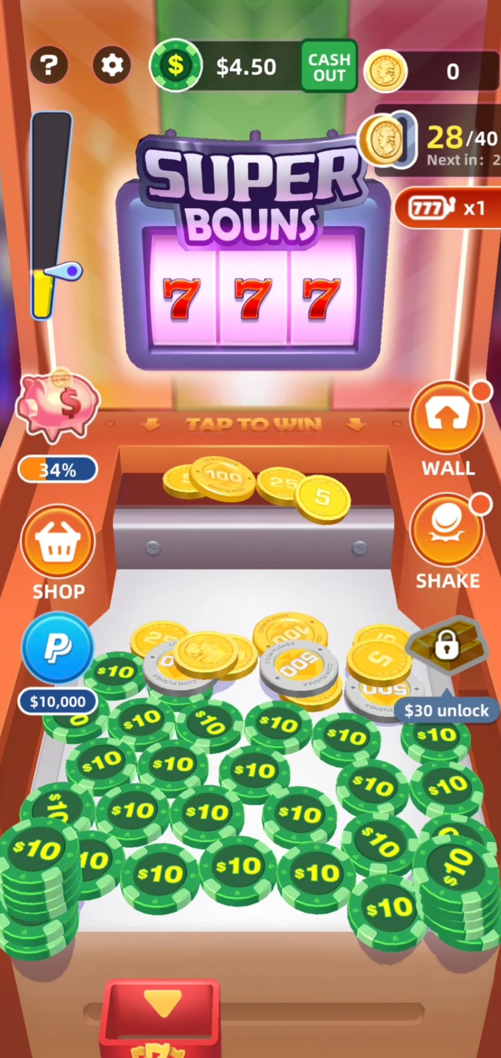 Lucky Chip Spin gameplay